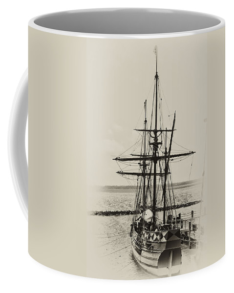 Jamestown Virginia Coffee Mug featuring the photograph Godspeed At Port In Jamestown by Bill Cannon