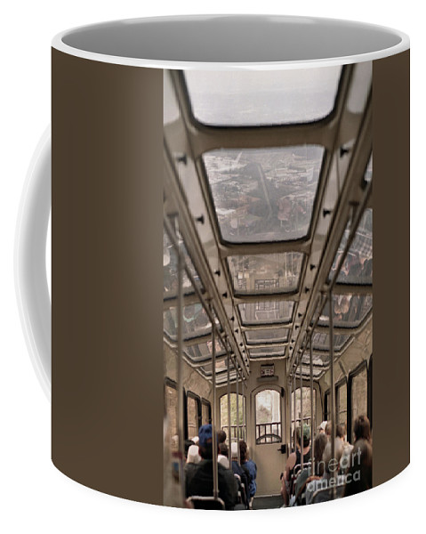 Cable Car Coffee Mug featuring the photograph Going Down by Richard Rizzo