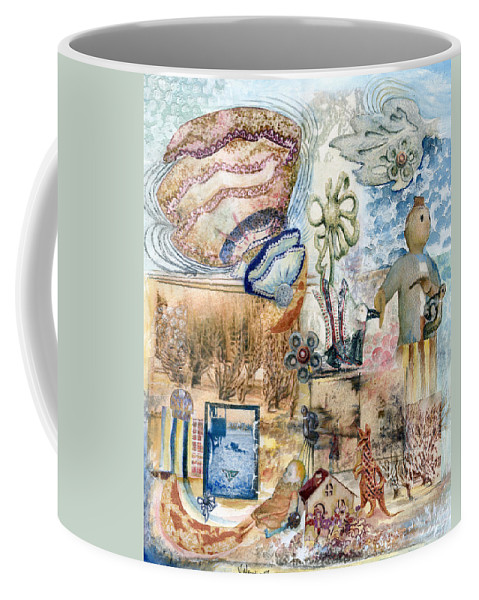 Fantasy Digital Art Coffee Mug featuring the painting Going Down by Valerie Meotti