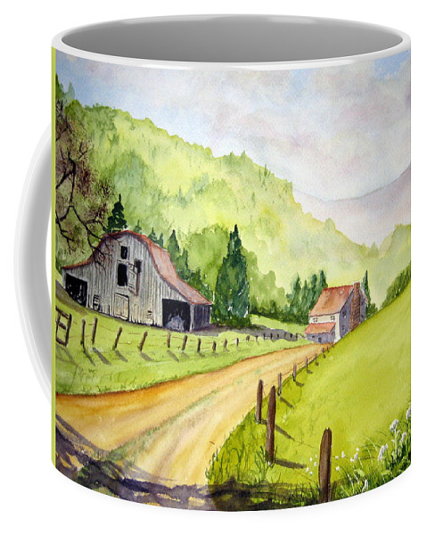 Barns Coffee Mug featuring the painting Going Home by Julia Rietz