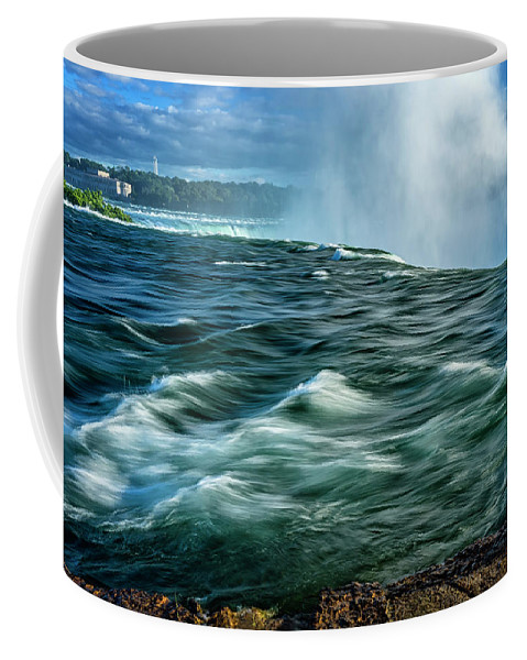 New York Coffee Mug featuring the photograph Going Over The Falls_dsc8595_16 by Greg Kluempers