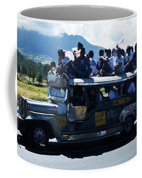 Philippines Coffee Mug featuring the photograph Going To A Protest by Betsy Knapp