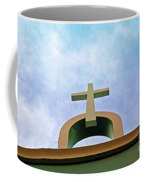 Cross Coffee Mug featuring the photograph Going Up by Debbi Granruth