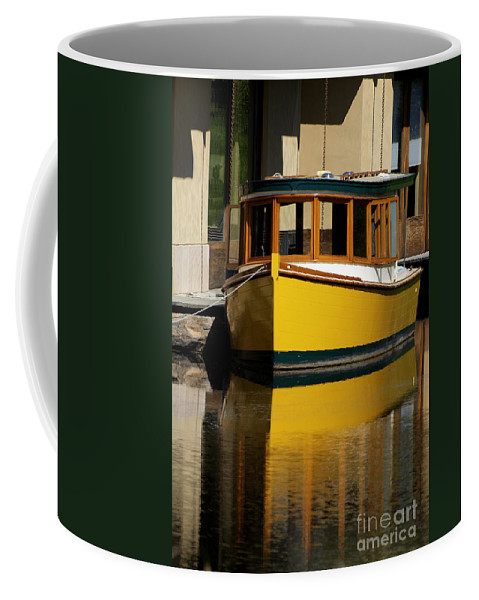 California Scenes Coffee Mug featuring the photograph Gold Boat Reflects by Norman Andrus
