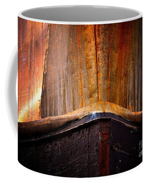 Abstract Coffee Mug featuring the photograph Gold Bow by Lauren Leigh Hunter Fine Art Photography