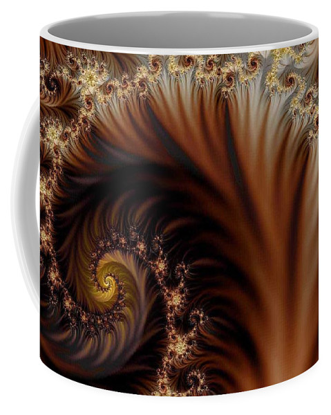Clay Coffee Mug featuring the digital art Gold In Them Hills by Clayton Bruster