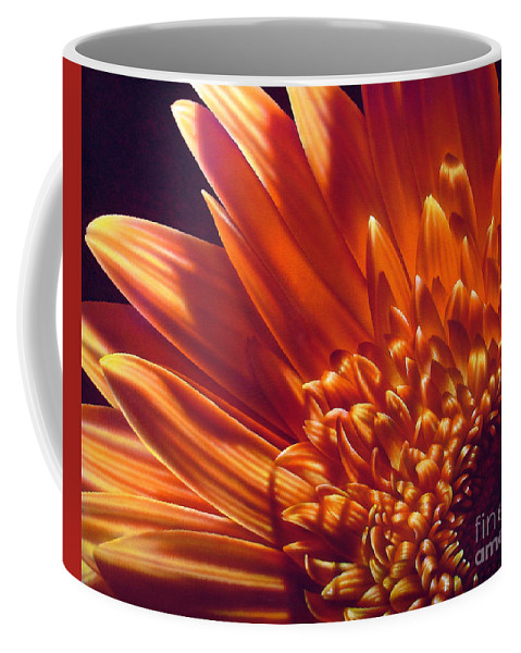Flowers Coffee Mug featuring the painting Gold by Jurek Zamoyski