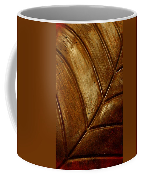 Leaf Coffee Mug featuring the photograph Gold Leaf by Heike Hultsch