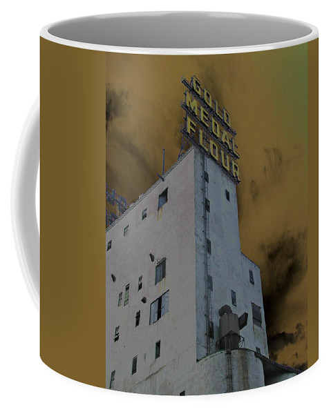 Minneapolis Coffee Mug featuring the photograph Gold Medal Flour by Tom Reynen