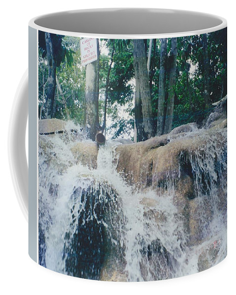 Water Coffee Mug featuring the photograph Gold Rock by Michelle Powell