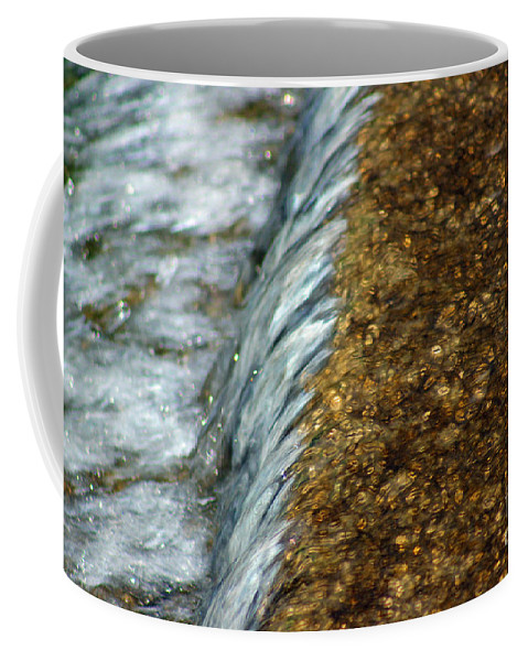 Gold Coffee Mug featuring the photograph Gold Rush Abstract by Karen Adams
