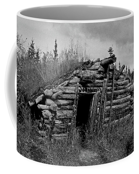 Gold Coffee Mug featuring the photograph Gold Rush Cabin - Yukon by Juergen Weiss