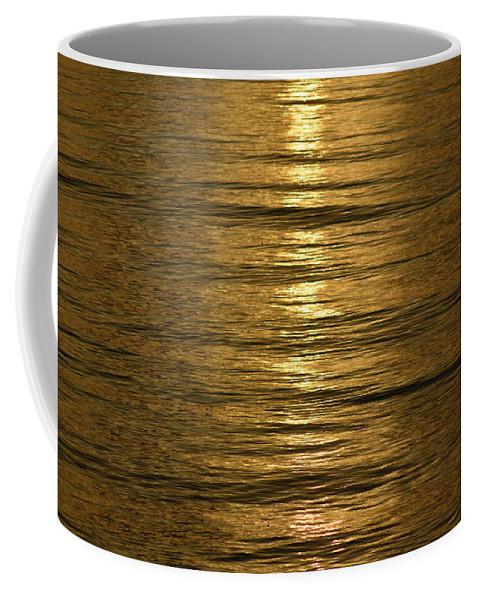 Gold Coffee Mug featuring the photograph Gold Sea by Rana Agaoglu