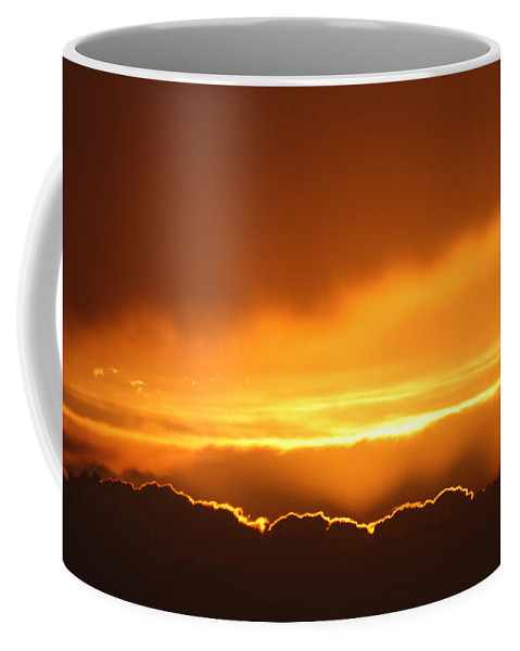 Sunset Gold Sky Scenery Clouds Mother Nature Beauty Beautiful Horizon Sunshine Coffee Mug featuring the photograph Gold Sunset by Andrea Lawrence