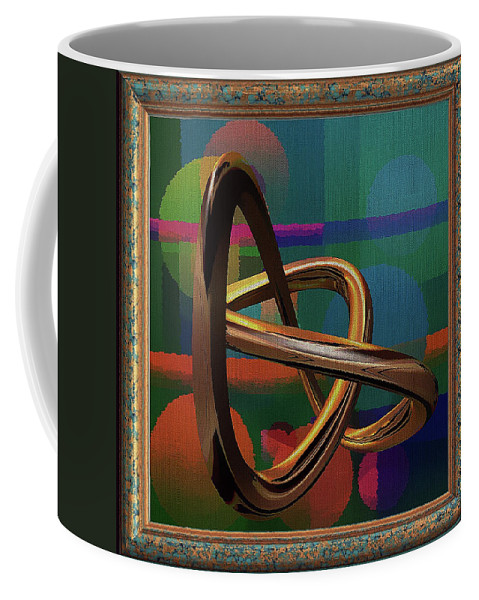 Abstract Coffee Mug featuring the digital art Golden Abstract by Clive Littin