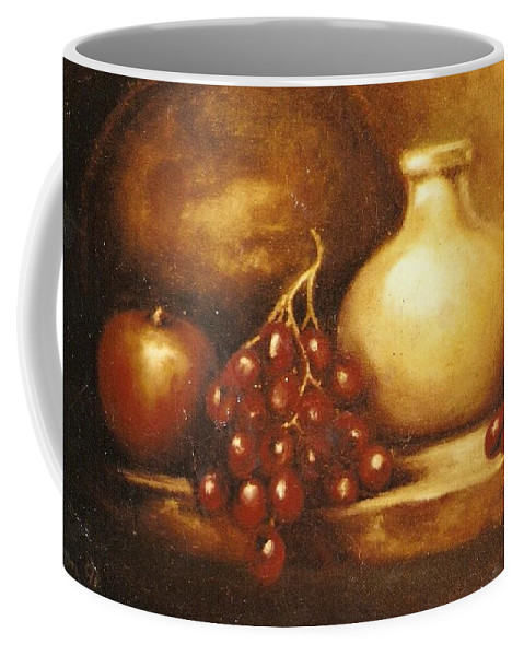 Still Life Coffee Mug featuring the painting Golden Carafe by Jordana Sands
