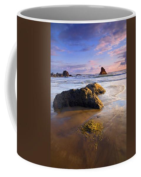 Beach Coffee Mug featuring the photograph Golden Coast by Mike Dawson