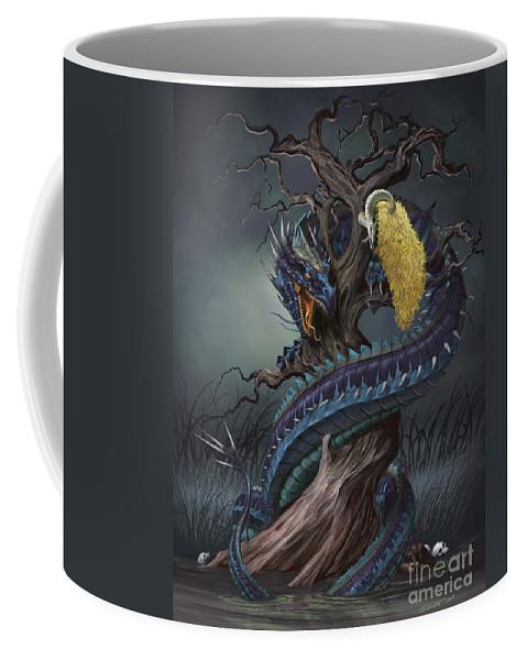 Fantasy Coffee Mug featuring the digital art Golden Fleece by Stanley Morrison