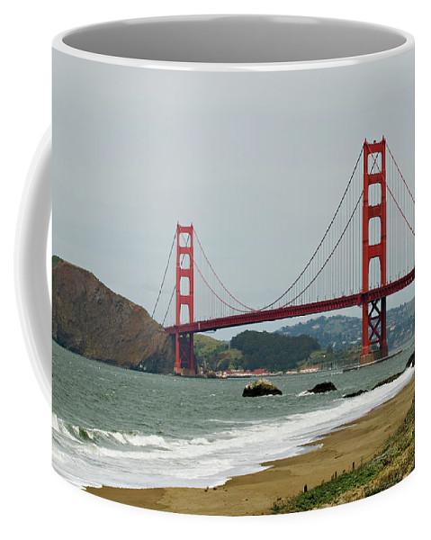 Golden Gate Bridge Coffee Mug featuring the photograph Golden Gate Bridge From Baker Beach by Renee Hong