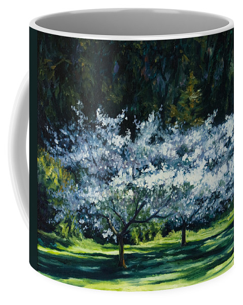 Trees Coffee Mug featuring the painting Golden Gate Park by Rick Nederlof