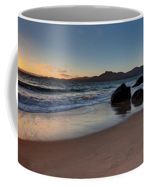Golden Gate Coffee Mug featuring the photograph Golden Gate Sunset by Mike Reid