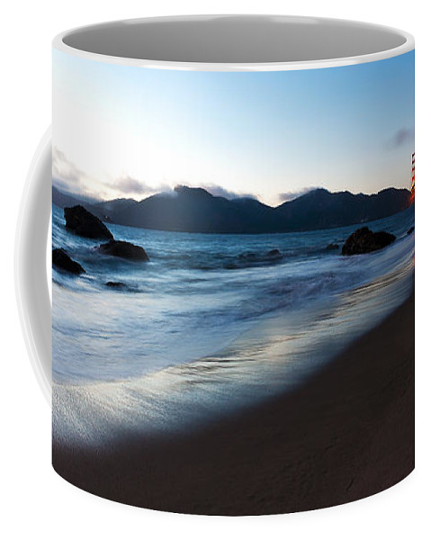 Golden Gate Coffee Mug featuring the photograph Golden Gate Tranquility by Mike Reid