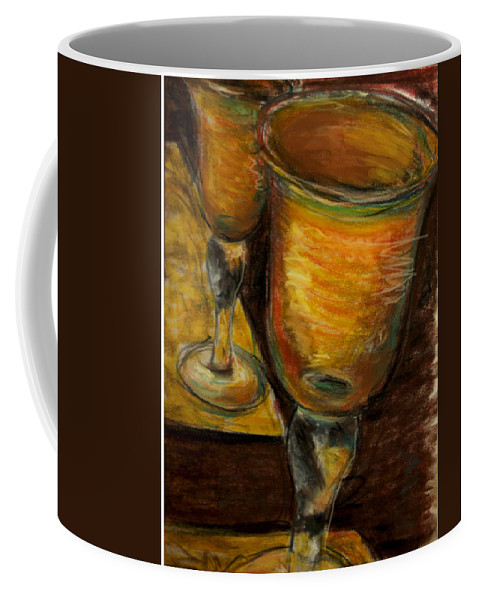Still Life Coffee Mug featuring the painting Golden Glasses by Susan Jenkins