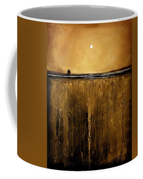 Minimalist Coffee Mug featuring the painting Golden Inspirations by Toni Grote