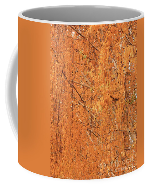 Yellow Coffee Mug featuring the photograph Golden Leaves by Carol Groenen
