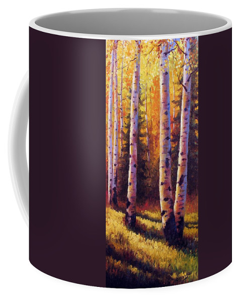 Light Coffee Mug featuring the painting Golden Light by David G Paul