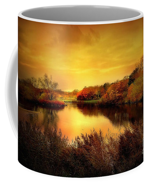 Pond Coffee Mug featuring the photograph Golden Pond by Jacky Gerritsen