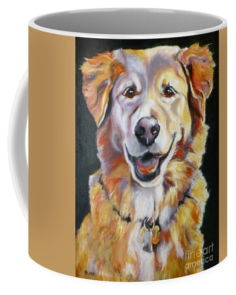 Dogs Coffee Mug featuring the painting Golden Retriever Most Huggable by Susan A Becker