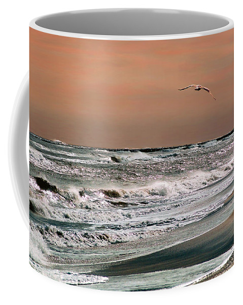 Seascape Coffee Mug featuring the photograph Golden Shore by Steve Karol