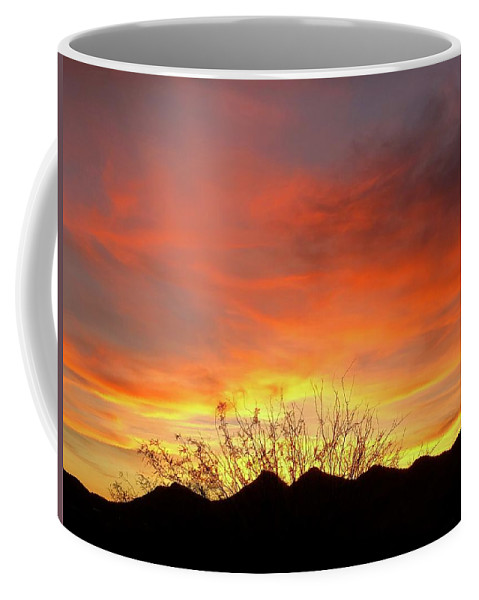 Coffee Mug featuring the photograph Unvieling by Joy Elizabeth