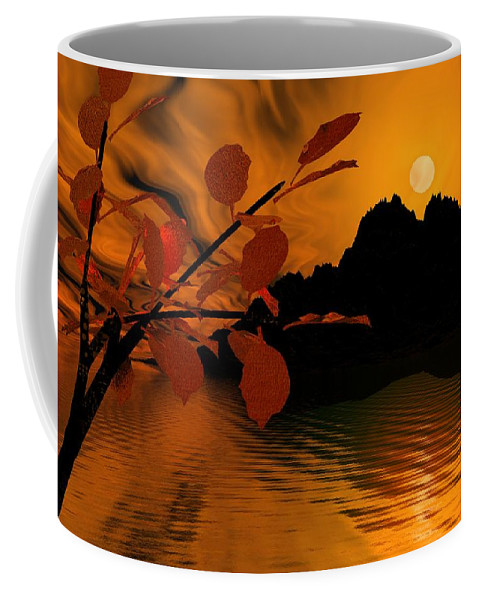 Landscape Coffee Mug featuring the digital art Golden Slumber Fills My Dreams. by David Lane