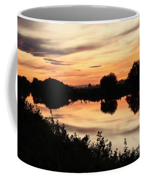 Golden Sunset Coffee Mug featuring the photograph Golden Sunset Reflection by Carol Groenen