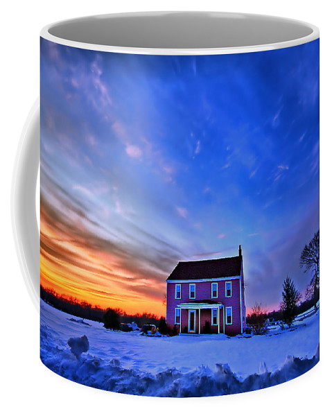 Cloud Coffee Mug featuring the photograph Golden Touch by Evelina Kremsdorf