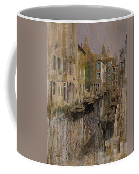 Venice Coffee Mug featuring the painting Golden Venice by Guido Borelli
