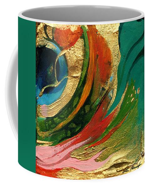 Lin Petershagen Coffee Mug featuring the painting Goldy by Lin Petershagen