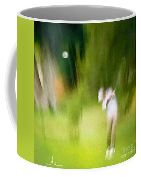 Golf Coffee Mug featuring the painting Golf At The Blue Monster In Doral Florida 01 by Miki De Goodaboom