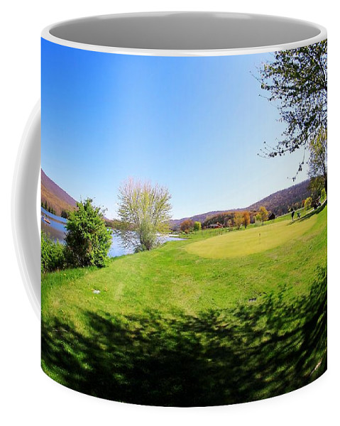 Golf Coffee Mug featuring the photograph Golf Course by Karl Rose