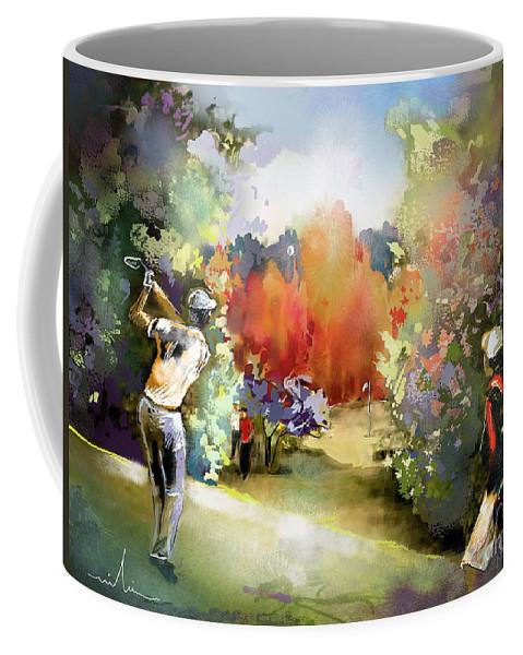 Golf Painting Golfer Sport Gut Laerchenhof Mercedes-benz Championship Pga Golf Coffee Mug featuring the painting Golf In Gut Laerchehof Germany 02 by Miki De Goodaboom