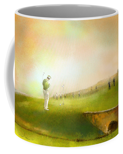 Golf Coffee Mug featuring the painting Golf In Scotland Saint Andrews 02 by Miki De Goodaboom