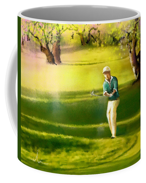 Sports Coffee Mug featuring the painting Golf In Spain Castello Masters 02 by Miki De Goodaboom