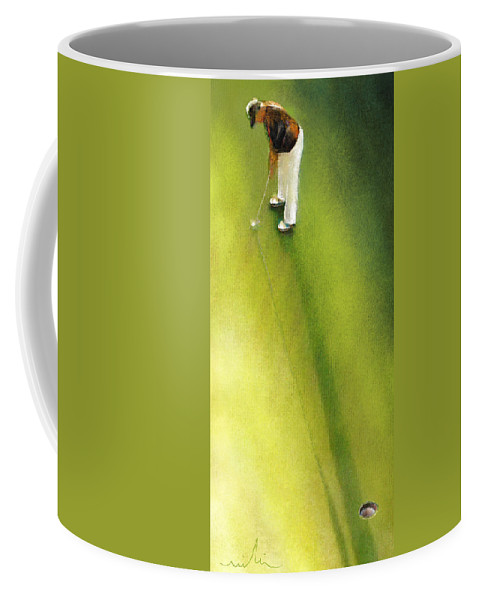 Golf Coffee Mug featuring the painting Golf In Spain Castello Masters 03 by Miki De Goodaboom