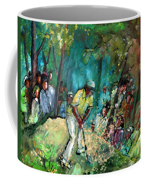 Sport Coffee Mug featuring the painting Golf Madness 03 by Miki De Goodaboom