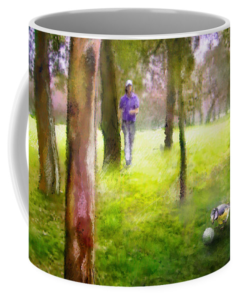 Golf Coffee Mug featuring the painting Golf Trophee Hassan II In Royal Golf Dar Es Salam Morocco 02 by Miki De Goodaboom