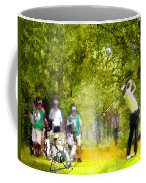 Golf Coffee Mug featuring the painting Golf Trophee Hassan II In Royal Golf Dar Es Salam Morocco 03 by Miki De Goodaboom