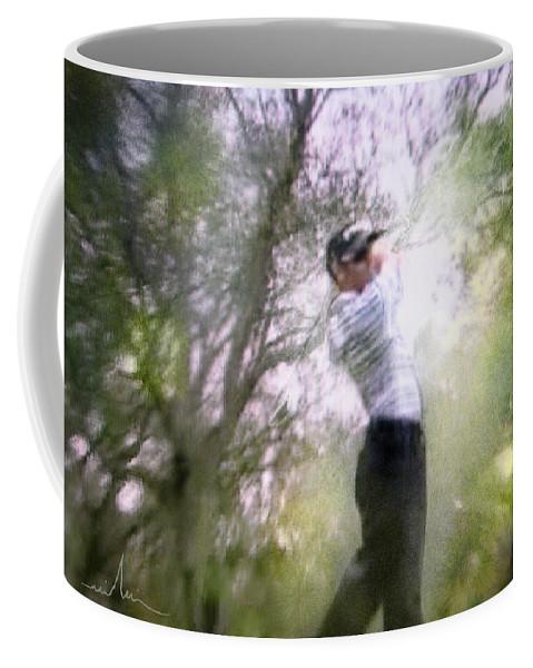 Golf Coffee Mug featuring the painting Golf Trophee Hassan II In Royal Golf Dar Es Salam Morocco 05 by Miki De Goodaboom