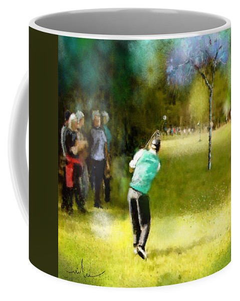 Golf Coffee Mug featuring the painting Golf Vivendi Trophy In France 02 by Miki De Goodaboom
